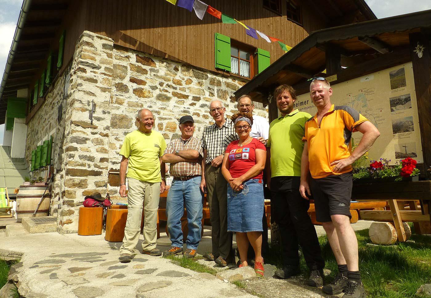 Arbeiteinsatz Pf-Hütte 2017