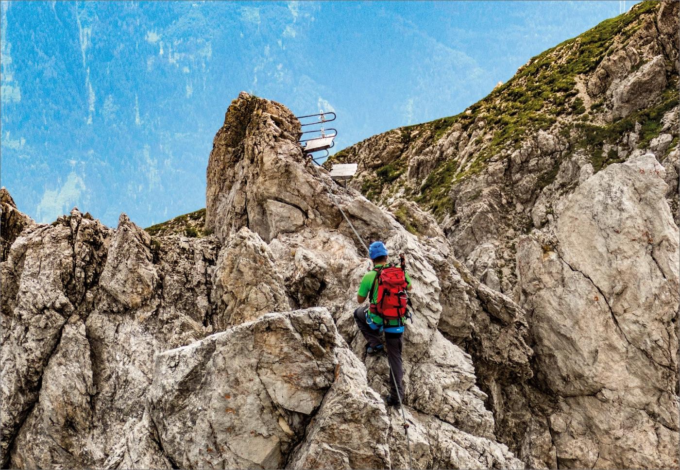 Klettersteige für  Fortgeschrittene