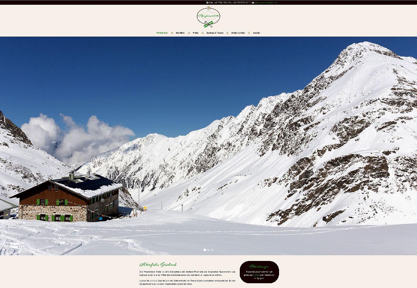 Webseite Pforzheimer Hütte